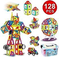 Kingstar 磁気おもちゃ 磁石ブロック キッズ 車輪付き 人気 積み木 マグネットおもちゃ 立体パズル オモチャ 玩具 DIY 創意プレゼント マグネットブロック 子ども 図形 組み立て 想像力と創造力を育てる 男の子 女の子 ゲーム モデル 子供オモチャ (マグネット製)