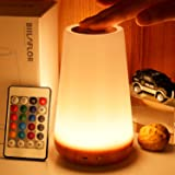 Biilaflor Touch Lamp, Portable Table Sensor Control Bedside Lamps with Quick USB Charging Port, 5 Level Dimmable Warm White L