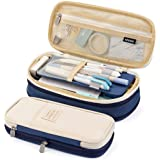 EASTHILL Pencil Case Big Capacity Pencil Pouch Storage Bag for Student Girl Adult of Office College School Organizer - Blue
