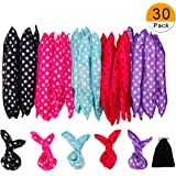 30 Pieces Hair Curler Rollers DIY Night Sleep Foam Hair Styling Tools Flexible Soft Sponge Pillow Hair Rollers With Storage B