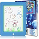 Coolfor Kids Light Up Drawing Board Magic Scribbler Pad with 9 Light Effects LCD Drawing Tablet Glow in The Dark Art Doodle B