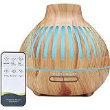 FantasyAttics Humidifiers for Bedroom With Essential Oil Diffuser, Wood Grain Cool Mist Humidifier 500Ml,Ultrasonic Desk Humi