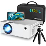 "1080P HD Projector, WiFi Projector Bluetooth Projector, FANGOR 6500 Lumen 230"" Portable Movie Projector, Compatible with TV S"