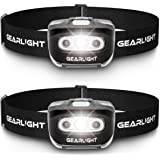 GearLight LED Headlamp Flashlight S500 [2 PACK] - Running, Camping, and Outdoors Headlamps - Best Head Lamp with Red Safety L
