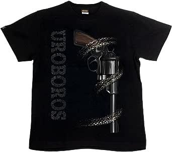 [GENJU] Tシャツ 拳銃 マグナム 弾丸 蛇 裏もデザイン有 メンズ