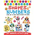 Dot Markers Activity Book: Shapes And Numbers Do a Dot Coloring Book, Dot Markers Activities Art Paint Daubers For Toddler, P