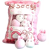 Chengbao Cute Throw Pillow Stuffed Strawberry Toys Removable Fluffy Kawaii Kitty Cat Plush Snack Pillow Pudding Decorative An