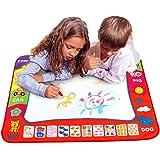 Aqua Doodle Mat 4 Color Children Water Magic Drawing Book Mat Board & Magic Pen Doodle Kids Educational Toy Gift with 2 Magic
