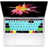 HRH Davinci Resolve Shortcuts Hotkey Silicone Keyboard Cover Skin for MacBook New Pro with Touch Bar 13 Inch and 15 Inch (A19