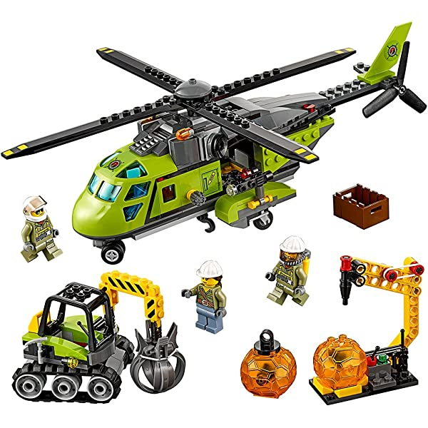 LEGO City Volcano Explorers 60121 Volcano Exploration Truck Building Kit 6137181 175 Piece