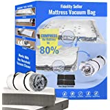Fidelity Seller Mattress Vacuum Bag for Moving Compress Mattress to Fraction of Its Size for Shipping, Return, Work with Most