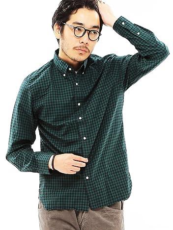 Oxford Gingham Buttondown Shirt 11-11-0918-139: Dark Green / Black