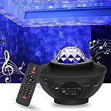 Star Light Galaxy Projector for Bedroom   Bluetooth Speaker, Adjustable Brightness, 10 Color Options, Timer Modes   Starry Sp