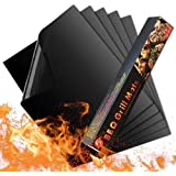 Luxerlife Grill Mat - Set of 5 Heavy Duty BBQ Grill Mats Non Stick, BBQ Grill & Baking Mats - Reusable, Easy to Clean - Works
