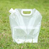 2-Pack Collapsible Water Storage Container Bag, Water Carrier Jug for Outdoor Camping Hiking Backpack Emergency, No-Leak Fold