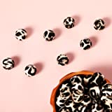 36 Pieces Leopard Print Silicone Beads Loose Beads, Personalized Leopard Print Series for DIY Jewelry Care Necklace Bracelet