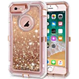 iPhone 6S Case, iPhone 6 Case, Anuck 3 in 1 Hybrid Heavy Duty Defender Case Sparkly Floating Liquid Glitter Protective Hard S