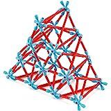 Hape Flexistix STEM Building Creativity Kit, Featuring 133 Multi-Colored Bamboo Pieces