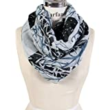 Scarfand's Fashion Graphics Print Light & Sheer Infinity Scarves