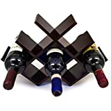 Sorbus Wine Rack Butterfly - Stores 8 Bottles of Wine - Sleek and Chic Looking - Minimal Assembly Required (Brown)