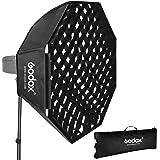 GODOX 95cm オクタゴン グリッドソフトボックス ボーエンズマウントスピードリング付き ポータブル オクタボックス スタジオ LEDビデオライト スピードライト撮影用 ポートレート 製品撮影 写真撮影など最適