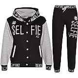 Kids Boys Girls Tracksuit Designer #Selfie Embroidered Jogging Suit Top & Bottom