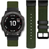 Abanen for Fenix 5/Fenix 6 QuickFit Watch Bands, 22mm QuickFit Woven Soft Nylon Quick Dry Wristband Strap for Garmin Fenix 5/