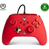 PowerA Enhanced Wired Controller for Xbox - Red, Gamepad, Wired Video Game Controller, Gaming Controller, Xbox Series X S, Xb