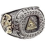 ジナブリング (JINA BRING) リング 指輪 プロビデンスの目 ジルコニアカレッジリング フリーメイソン シルバー925#15