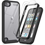 iPod Touch 7 Case, iPod Touch 6/5 Case with Tempered Glass Screen Protector [2 Pack], LeYi Full-Body Armor Hybrid Rugged Prot