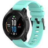 Compatible with Garmin Fenix 6 Pro Watch Bands, Forerunner 945 Bands, 22mm Quickfit Silicone Band Straps Wristband Bracelet F