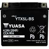 台湾製 バイクバッテリー 国内液入 初期補充電済 YUASA 純正互換品 (YTX5L-BS / GTX5L-BS…