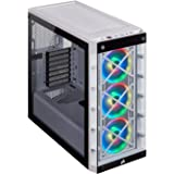 Corsair CC-9011189-WW iCUE 465X RGB Mid-Tower ATX Smart Case (Tempered Glass Side & Front Panels, Three LL120 RGB Fans Includ