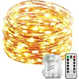 Inscrok Fairy Lights,5M Battery Operated Outdoor Indoor LED String Lights, Waterproof LED Christmas Lights for Bedroom Decor,