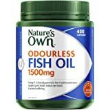 Nature's Own Odourless Fish Oil 1500mg - Source of Omega-3 - Maintains Wellbeing - Supports Healthy Heart and Brain, 400 Caps