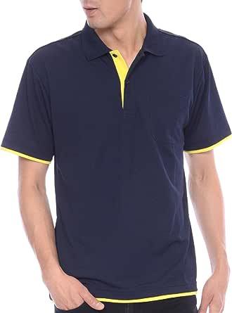 ティーシャツドットエスティー ポロシャツ ドライ 半袖 レイヤード ポケット付き UVカット 4.4oz メンズ (S,M,L,LL,3L,4L,5L)