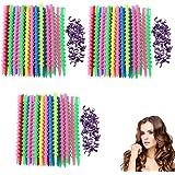 VinBee 84 PACK Plastic Spiral Hair Perm Rod Spiral Rod Barber Hairdressing Hair Rollers Salon Tools for Women Girls