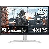 LG モニター ディスプレイ 27UP600-W 27インチ/4K/IPS非光沢/DisplayHDR400/FreeSync/HDMI×2、DisplayPort/ブルーライト低減、フリッカーセーフ機能