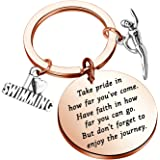 Swim Keychain I Love Swimming Lover Gift Take Pride in How Far You Have Come Swim Team Inspirational Gift Swimming Jewelry fo