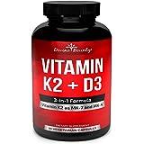 Vitamin K2 (MK7 & MK4) with D3 Supplement - Vitamin K & D as MK-7 100mcg, MK-4 500mcg, and 5000 IU Vitamin D3-3-in-1 Formula