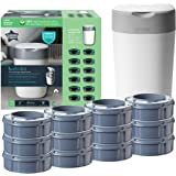 Tommee Tippee Twist & Click Sangenic Tec Nappy Bin Starter Set Odour Proof Nappy Disposal System Includes 12 Refill Cassettes