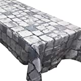 Blue Orchards Cobblestone Tablecovers (2), Medieval Party Supplies, Knight Themed Events, Pixel Parties, Castle Table Setting
