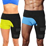 Hip Stabilizer and Groin Brace - Most Comfortable Thigh Support. Adjustable Leg Compression Wrap Sleeve. Faster Pain Relief f