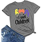 HRIUYI Plus Size I Smell Children Shirts Women Funny Hocus Pocus Shirt Halloween Costumes Top Tee Shirt