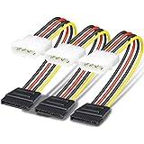 SATA to Molex, Benfei 3 Pack 4 Pin Molex to SATA Power Cable - 10 Inches