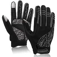 F-TUBAME® 手袋 防寒 グローブ サイクルグローブ 3D 立体 自転車グローブ サイクリンググローブ 衝撃吸収パ…