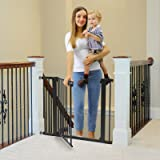 """Cumbor 40.6""""Dog Gates for Stairs and Doorways, Extra Wide Dog Gate for The House,Durable Easy Walk Thru Baby Gate. Includes 4"""