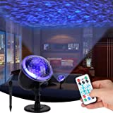 Night Light Projector Lights for Kids, Ocean Wave Projector Light with Ripple RGB 3D Water Effect, Remote Control Nursery Lam