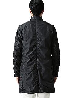 Nylon Balmacaan Coat 11-19-0221-803: Black