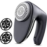 POPCHOSE Fabric Shaver, Rechargeable Lint Remover with 6-Blades and Electrostatic Brush, Effectively and Quickly Remove Fuzz